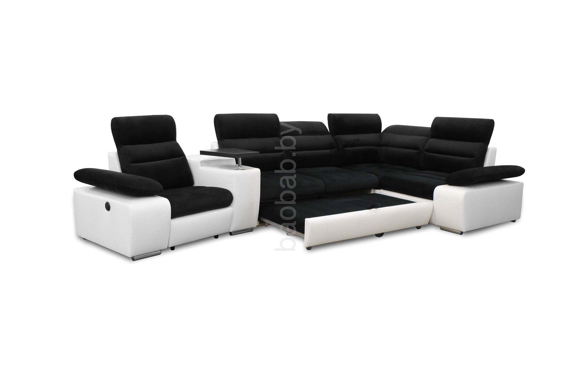 Фото модульных угловых диванов черного цвета первые годы